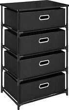 4 Drawer Dresser Lightweight Canvas And Metal Dresser Bedroom Furniture - New