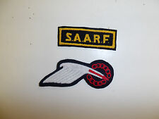 b1077 WW 2 SAARF Special Allied Airborne Reconnaissance Force patch & Tab R3E
