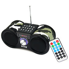 Portable Speaker FM Stereo Radio USB TF Card Music Player W/ Remote Controller