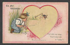Ca 1908 PPC* VINTAGE VALENTINE FALL INTO MY TRAP TUCK CARD HAS EDGE FAULTS