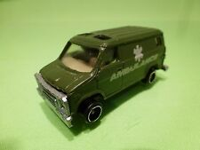 CHINA CHEVY VAN - MILITARY AMBULANCE - ARMY GREEN 1:60? - GOOD CONDITION