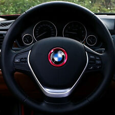 1Pc Ring Aluminum Alloy Car Steering Wheel Center Decorative Ring For BMW Red