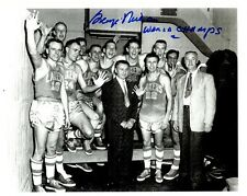 Signed  8x10 GEORGE MIKAN MINNEAPOLIS LAKERS  Autographed Photo w/COA