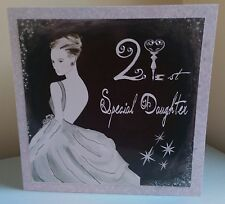 STUNNING 21ST BIRTHDAY CARD - VINTAGE, ELEGANT, DAUGHTER, GRAND DAUGHTER, NEICE