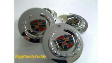 4 Cadillac CTS 08 09 10 11 12 Chrome Wreath & Crest WHEEL CENTER CAPS!!