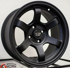 ROTA GRID CONCAVE 15X8 4X100 +20 BLACK WHEEL FIT INTEGRA DC2 MIATA MR2 YARIS