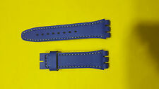 original swiss made swatch leather band blue 20mm 100%new for swatch watch