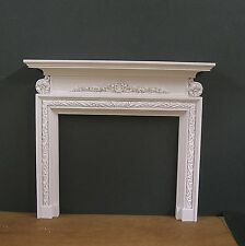 GEORGIAN  FIREPLACE ~ for  BARBIE ~ 1:6 scale ~ Action Figure ~  DIORAMA ~ White