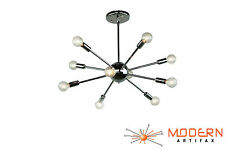 Sputnik Atomic Lamp Light Chandelier Chrome Mid Century Modern Eames