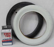 1x SET12 Zoll Reifen weiß Michelin 47-203 + Rubena  Schlauch AV 90° Kinderwagen