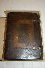 1560 Exceptional red-ruled FIRST EDITION Geneva Bible, maps, box, clasps, RARE!!