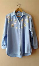 90s vintage light denim appliqued shirt 20 hipster country
