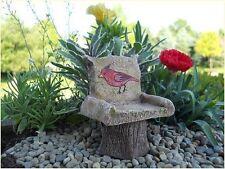 Fairy Garden Cardinal Chair Dollhouse Miniatures Bird