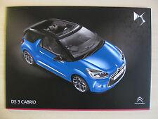 Citroen DS3 Cabrio UK Sales Brochure (2014)