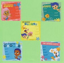 15 Bubble Guppies I've Grown - Height and Weight - Large Stickers - Party Favors