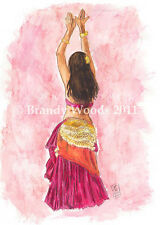 Belly Dance Gypsy Fashion Costumes Renfest fantasy exotic ACEO art Brandy Woods