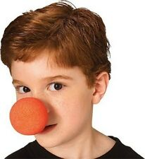 Red Clown Nose Kids Adult Child Foam Costume Halloween Push On Mouse NEW