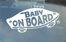 INTERNAL Baby On Board Classic Vans 'Off the Wall' Sticker for Vehicles & more