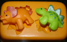 silicone mould baby dinosaur birthday cupcake cake icing fimo resin polymer clay