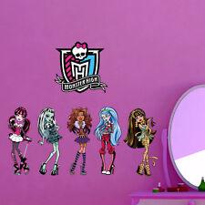 Girl Monster High Five Girls Wall Sticker Vinyl Decal Kids Room Decor Mural Art
