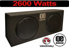 "Double 10"" Subwoofer Slim Shallow Active Bass Convertible Vauxhal Built in Amp"
