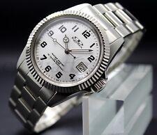 Orologio Kentex Quarzo 10 Anni di autonimia Pila Acciaio Data Quadrante Silver