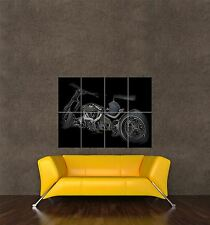 POSTER PRINT GIANT TRAVEL TRANSPORT STYLISED PHOTO LOWRIDER MOTORBIKE PAMP218