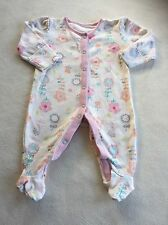 Girls Babygrows 0-3 Months - Pretty  Baby Grow Sleepsuit -