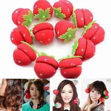 WL New 12pcs Foam Strawberry Balls Soft Sponge Hair Curlers Rollers Bun Round Wk