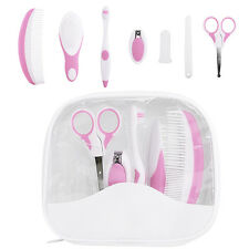7pcs Baby Healthcare & Grooming Kit Set Newborn Hair Brush Comb Toothbrush Pink