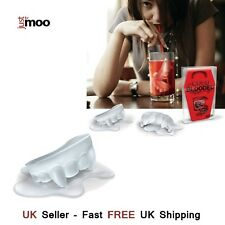 JustForMoo Cold blooded vampire fangs ice cube tray - perfect for Halloween RED