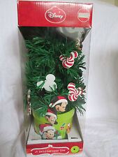 """New 18"""" Lighted Mickey Mouse Disney Fiber Optic Christmas Tree Ornaments & Stand"""