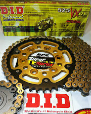 ZX6R 636 NINJA '03-04 SUPERSPROX GOLD DID 525 CHAIN AND SPROCKET KIT