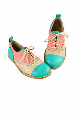 NIB New Pepe Italy Beautiful Oxford Brogue Lace Up Shoes SZ 33 / US 2 $159