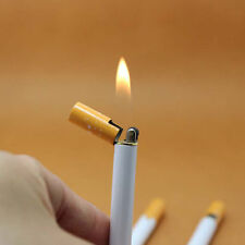 CIGARETTE SHAPED REFILL BUTANE CIGAR LIGHTER REGULAR NORMAL FLAME GAS NOVELTY