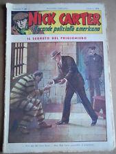Nick Carter Il Grande poliziotto americano Anni 40 n°68 ed. NERBINI  [G369]