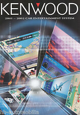 Prospekt Katalog Kenwood Car Entertainment 2001/2002 Autoradio Endstufen Lautspr