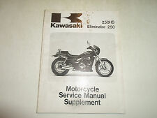1988 1991 Kawasaki Eliminator 250 250HS Service Manual Supplement STAINED DEAL