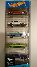HOT WHEELS MUSTANG 50TH 5-PACK 50 YEARS NEW FORD MUSTANG GT
