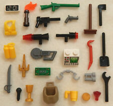 25+ NEW LEGO ACCESSORY LOT minifig weapon parts tool minifigure pieces people