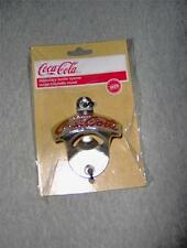 DRINK COCA-COLA  WALL MOUNT BOTTLE OPENER NEW IN THE PACKAGE &  MOUNTING SCREWS
