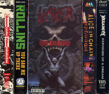 SLAYER LIVE INTRUSION HENRY ROLLINS MEGADETH ALICE IN CHAINS + VHS VIDEOTAPE LOT