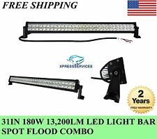 "180W LED 31"" Light Bar Combo beam HID offroad Work Jeep SUVTruck Tractor 12V 24V"