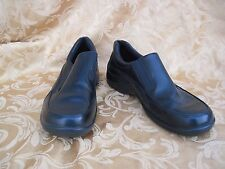 Ecco Light Shock Point Slip On Loafers Black Leather Side Zipper Eur 38 US 7.5