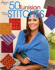 50 Tunisian Stitches and 4 Crochet patterns Book scarf hat shawl wrap crocheting