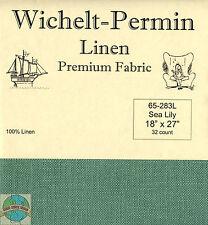 """Wichelt-Permin 32Ct Sea Lily Linen Cross Stitch Fabric 18"""" x 27"""" #65-283L"""