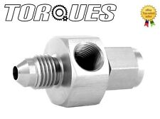 """AN-4 (4AN) Male To Female 1/8"""" Side Port Stainless Steel Pressure Gauge Adapter"""