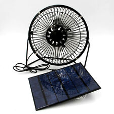3.5W Solar Panel Running 6'' Mini USB Fan For Outdoor Cooling Ventilation