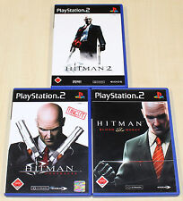 3 PLAYSTATION 2 SPIELE SAMMLUNG - HITMAN - BLOOD MONEY CONTRACTS SILENT ASSASSIN