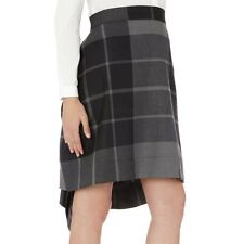 Vivienne Westwood Anglomania Grey Black Plaid Wool Skirt - UK 6 / IT 38